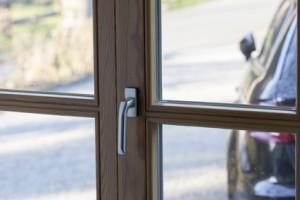 Holzfenster ungesichert
